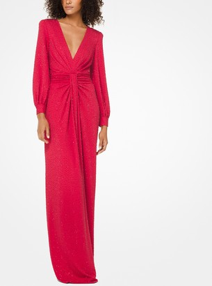 Michael Kors Embroidered Stretch Matte-Jersey Gown