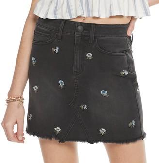 So Juniors' Embroidered Denim Skirt