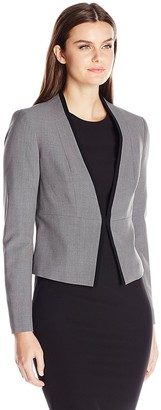 Nine West Women's Stretch Crepe Kiss Front Jacket (7)