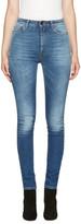 Saint Laurent Blue High-waist Skinny Jeans