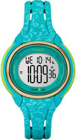 Timex Womens Sleek Blue Floral 50 Lap Strap Watch