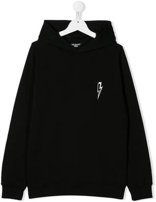Neil Barrett Kids TEEN thunderbolt hoodie