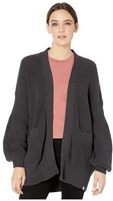 Rip Curl Warm Hearted Cardigan (Dark Grey) Women's Sweater