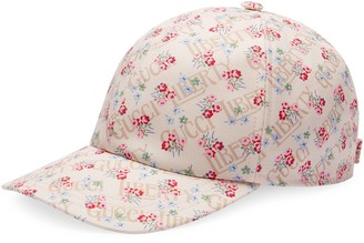 Gucci Liberty floral canvas baseball hat