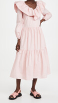 Thumbnail for your product : ENGLISH FACTORY Ruffled Neck Midi Dress