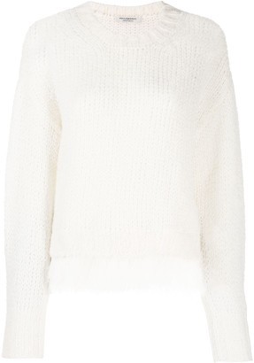 Philosophy di Lorenzo Serafini Fringed Knitted Sweater