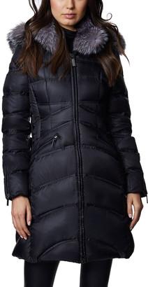 Dawn Levy Cloe A-Line Fox Fur-Trim Puffer Coat