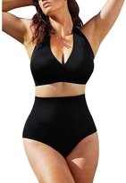 Kinghard® Kinghard Women Plus Size Push up Padded Bra High Waist Bikini Swimwear (L, )