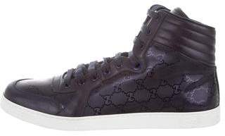 Gucci GG Imprime High-Top Sneakers