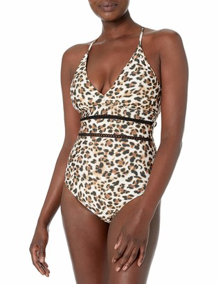 Athena Women's Plunge One Piece Swimsuit