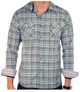 191 Unlimited Men's Green Plaid Shirt