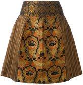 Etro patch brocade bell skirt
