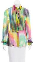 Dolce & Gabbana Silk Tie-Dye Top w/ Tags