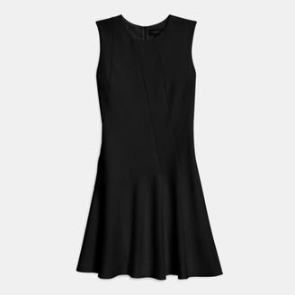 Theory Asymmetric Drape Dress in Crepe