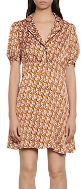 Sandro Cadia Tiger Print Short Dress