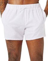 Topman Stripe Spliced Swim Shorts