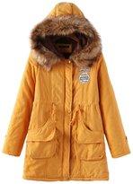 Win8Fong Women's Fashion Thicken Fleece Faux Fur Hooded Parka Winter Coat