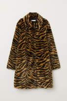 H&M - Faux Fur Coat - Brown