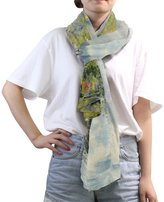 MRMIAN Poppy Fields Monet Colorful Long Silk Chiffon Scarf Wrap Gift