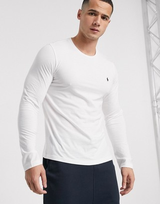 Polo Ralph Lauren long sleeve soft cotton top in white