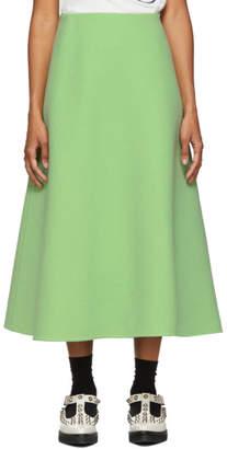 Marc Jacobs Green Wool A-Line Skirt