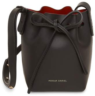 Mansur Gavriel Baby Bucket Bag Black - Flamma