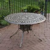 Vanguard Metal Dining Table Oakland Living Color: Antique Bronze