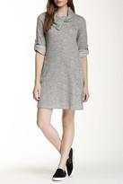 Max Studio Long Sleeve Shawl A-Line Dress