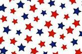 686 SheetWorld Fitted Basket Sheet - Primary Patriotic Stars On White Woven - Made In USA - 13 inches x 27 inches (33 cm x cm)
