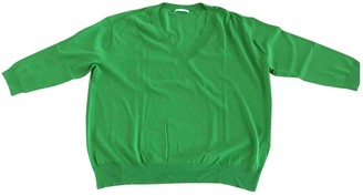 Green Cotton Non Signe / Unsigned Knitwear for Women