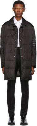 Thom Browne Black Down 4-Bar Classic Bal Collar Coat