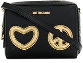 Love Moschino appliqué hearts crossbody bag