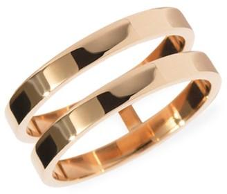 Repossi Berbere 18K Rose Gold 2-Row Ring
