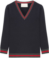 Gucci Striped Wool Sweater - Navy