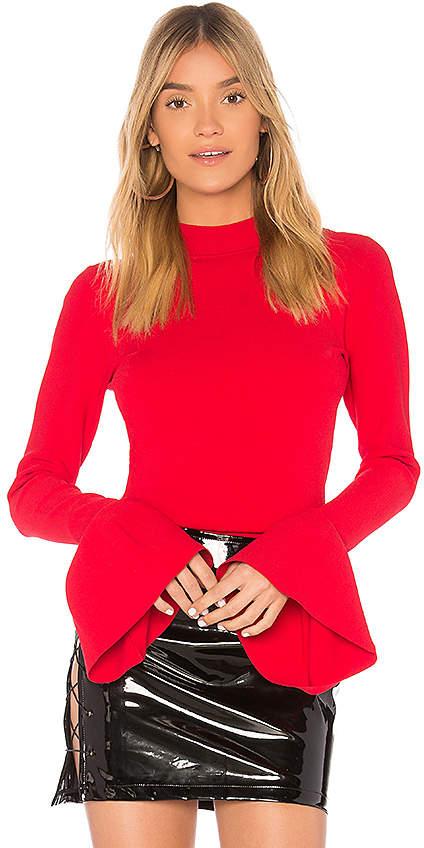 Diane von Furstenberg Flutter Sleeve Pullover