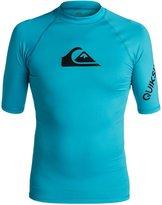 Quiksilver Mens All Time - Short Sleeve Rash Vest Short Sleeve Rash Tank Blue 3Xl