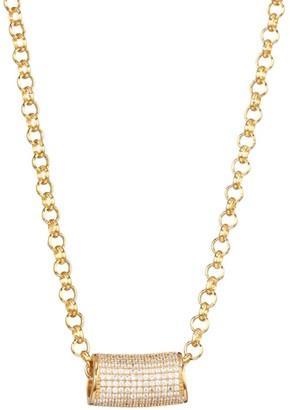 Dean Davidson Core 22K Yellow Goldplated & Cubic Zirconia Signature Tube Pendant Necklace