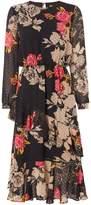 Biba Printed Romantic Ruffle Dress
