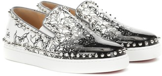 Christian Louboutin Exclusive to Mytheresa a Pik Boat Woman leather sneakers