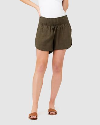 Ripe Maternity Byron Shirred Shorts