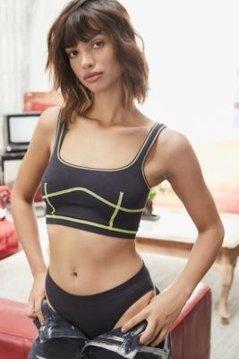 Out From Under Margot Seamed Corset Bra - White M at Urban Outfitters