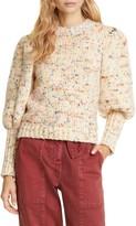 Ulla Johnson Moxie Balloon Sleeve Wool Sweater