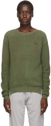 Ambush Green Waffle Knit Crewneck Sweater