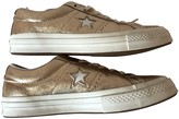 Converse Gold Leather Trainers