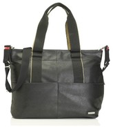 Storksak Infant 'Eden' Faux Leather Diaper Bag - Black