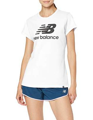 New Balance Women's Wt81536 T-Shirt, White Multi Wtw, Small