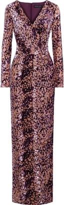Rachel Zoe Dianora Wrap-effect Devore-velvet Gown