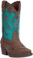 Dan Post Brown & Aqua Little Kate Cowboy Boot