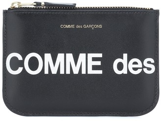 Comme des Garcons Huge Logo Small leather pouch