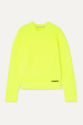 Alexander Wang Ribbed Terry Sweatshirt - Chartreuse